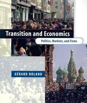 Cover of: Transition and Economics by Gérard Roland