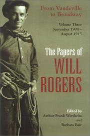 Cover of: The Papers of Will Rogers | Will Rogers