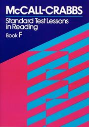 Cover of: McCall Crabbs Standard Test by McCall Crabbs