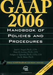 Cover of: GAAP 2006 Handbook of Policies and Procedures (Gaap Handbook of Policies and Procedures) | Jae K. Shim