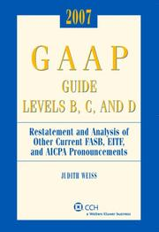 Cover of: GAAP Guide Levels B, C, and D (2007) by Judith Weiss