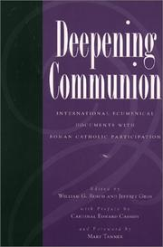 Cover of: Deepening Communion | Williams G. Rusch