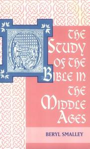 Cover of: Study of the Bible in the Middle Ages by B. Smalley