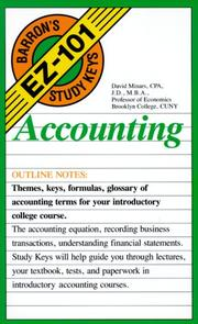 Cover of: Accounting by David Minars