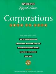 Cover of: Corporations step-by-step | David Minars