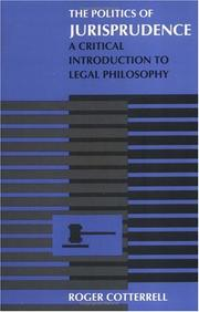 Cover of: The politics of jurisprudence by Roger Cotterrell