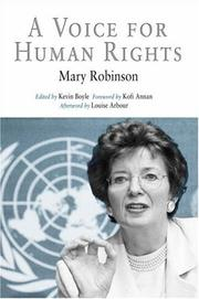 Cover of: A Voice for Human Rights (Pennsylvania Studies in Human Rights) | Mary Robinson