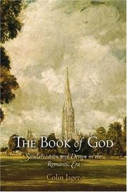 Cover of: The Book of God | Colin Jager