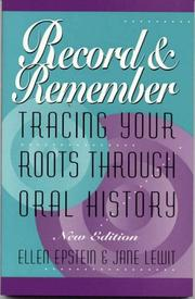 Cover of: Record and remember by Ellen Robinson Epstein