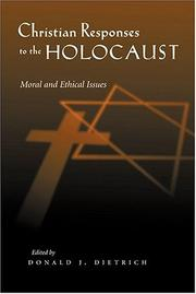 Cover of: Christian Responses to the Holocaust | Donald J. Dietrich