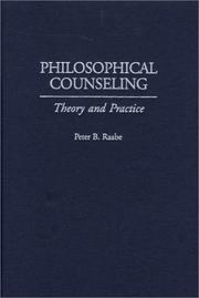 Cover of: Philosophical Counseling by Peter B. Raabe