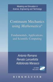 Cover of: Continuum mechanics using Mathematica | Antonio Romano