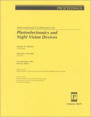 Cover of: Photoelectronics and Night Vision Devices (Vol 3819) | Anatoly Filachev