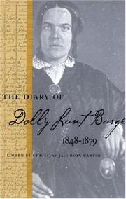 Cover of: The Diary of Dolly Lunt Burge (Southern Voices from the Past: Women's Letters, Diaries, and Writings) by Dolly, Lunt Burge