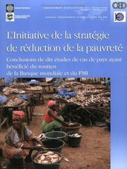 Cover of: Initiative Stratégique De Reduction De La Pauvrete | William G. Battaile