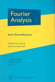 Cover of: Fourier Analysis (Graduate Studies in Mathematics) (Graduate Studies in Mathematics) by Javier Duoandikoetxea