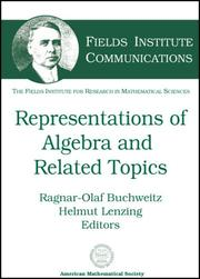 Cover of: Representations of Algebras and Related Topics (Fields Institute Communications,) | Fields Institute for Research in Mathema