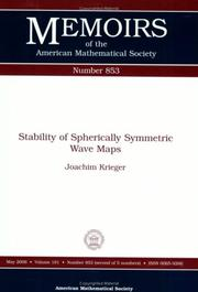Cover of: Stability of Spherically Symmetric Wave Maps (Memoirs of the American Mathematical Society) | Joachim Krieger