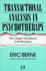 Cover of: Transactional Analysis in Psychotherapy | Eric Berne