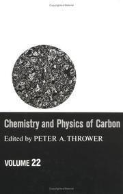 Cover of: Chemistry and Physics of Carbon | Peter A. Thrower