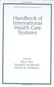 Cover of: Handbook of International Health Care Systems (Public Administration and Public Policy) | Thai