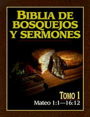 Cover of: Mateo 1: Preacher's Outline and Sermon Bible | Anonimo
