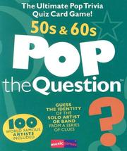 Cover of: Pop The Question 50's and 60's by Michael Heatley