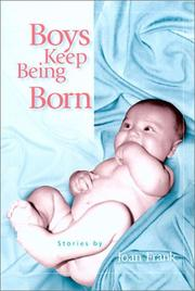 Cover of: Boys keep being born by Joan Frank
