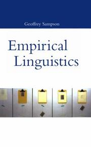 Cover of: Empirical linguistics | Geoffrey Sampson