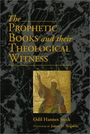 Cover of: The Prophetic Books and Their Theological Witness | Odil Hannes Steck