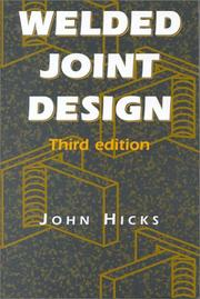 Cover of: Welded Joint Design by John Hicks