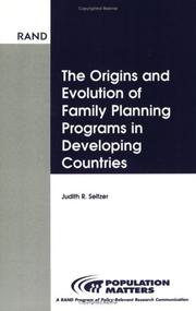 Cover of: Origins and Evolution of Family Planning (Population Matters) | Judith R. Seltzer