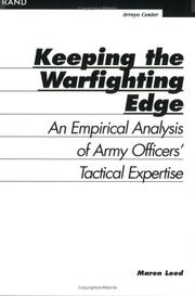 Cover of: Keeping the warfighting edge | Maren Leed