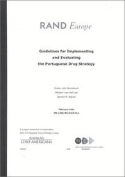 Cover of: Guidlines for Implementing and Evaluating the Portugese Drug Strategy | Ineke van Beusekom