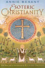 Cover of: Esoteric Christianity | Annie Wood Besant