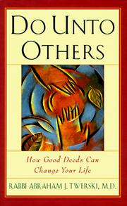 Cover of: Do unto others by Abraham J. Twerski