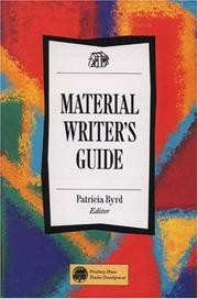 Cover of: Material Writer's Guide by Patricia Byrd