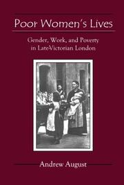 Cover of: Poor Women's Lives by Andrew August