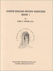 Cover of: Junior English Review Exercises, Book 1 by Earl F. Wood