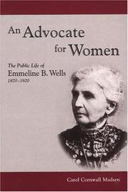 Cover of: An advocate for women | Carol Cornwall Madsen