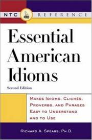 Cover of: Essential American idioms | Richard A. Spears