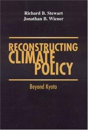 Cover of: Reconstructing Climate Policy | Richard B. Stewart