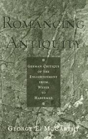 Cover of: Romancing antiquity by George E. McCarthy