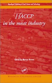 Cover of: HACCP in the Meat Industry (Woodhead Publishing Series in Food Science and Technology.) by Martyn Brown