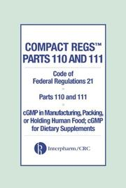 Cover of: Compact Regs Parts 110 and 111 by Interpharm