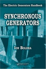 Cover of: Synchronous generators | I. Boldea