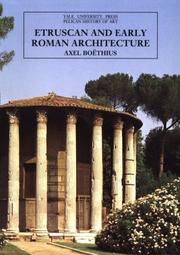 Cover of: Etruscan and Early Roman Architecture | Axel Boethius