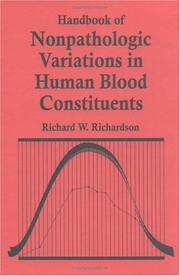 Cover of: Handbook of nonpathologic variations in human blood constituents by Richardson, Richard W. M.C.B.