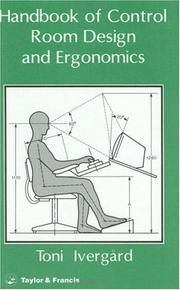 Attractive Cover Of: Handbook Of Control Room Design And Ergonomics By Toni Ivergård Good Looking