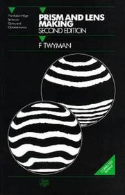 Cover of: Prism and lens making by Twyman, F.